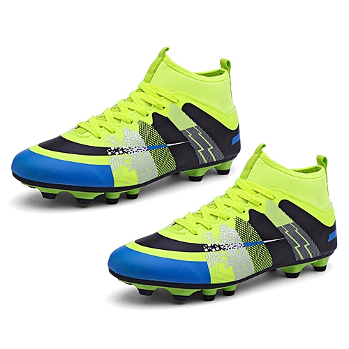 Generic UL High Ankle Soccer Shoes Wear-resisting Sports For Football  Trainers Fluorescent Green 5c62aff2aad1
