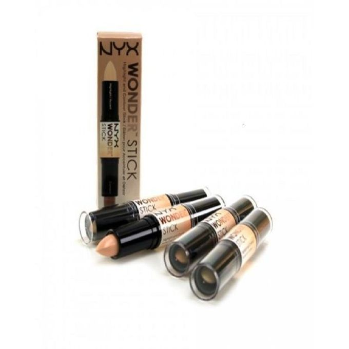 Nyx cosmetics wonder stick contour highlighter universal light neutral with shimmer ws04 - Nyx concealer wand glow ...