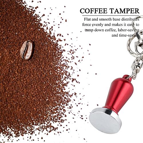 23mm Diameter Stainless Steel Flat Base Coffee Tamper Pressing Tool Key Ring Decoration