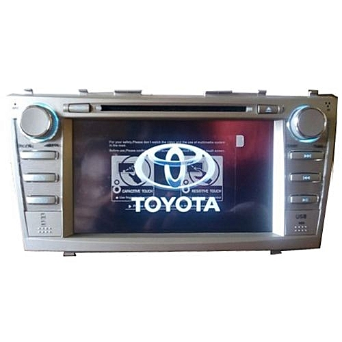 Toyota Camry 2007 - 2011 Car Stereo DVD Player With Functional Bluetooth, SD, USB Slots + Reverse Camera With 4 Led Lights For Day And Night Visualization
