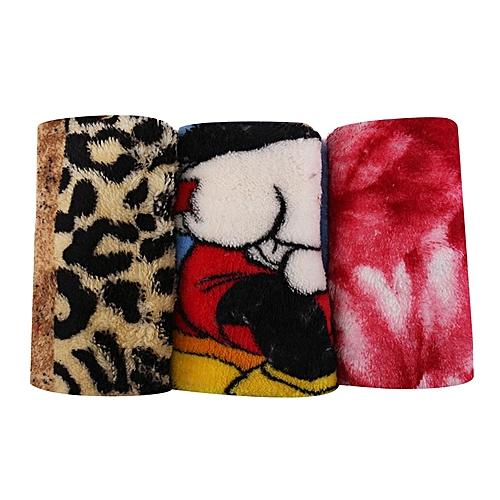 Micro - Fibre Cloth (Napkin/Towel)- 3 In 1- Multicolour