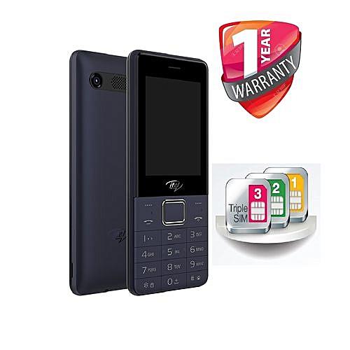5080 Triple SIM Card, Bright LED Torch, Internet, Wireless FM Feature Phone - DARK BLUE