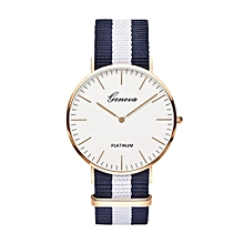 adc9e3aeb75 Unisex Geneva Canvas Band Watch Men Women Fashion Sport Casual Wrist Watch  Unique Business Quartz Watches