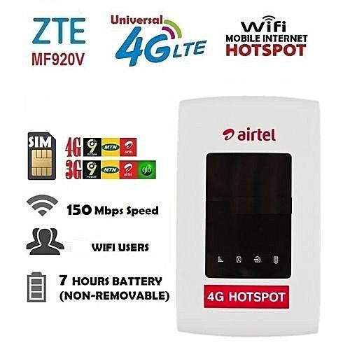 4G/3G LTE Mobile Internet WiFi Hotspot For Ntel,Airtel,MTN,9Mobile,Glo,Spectranet,Swift,Smile