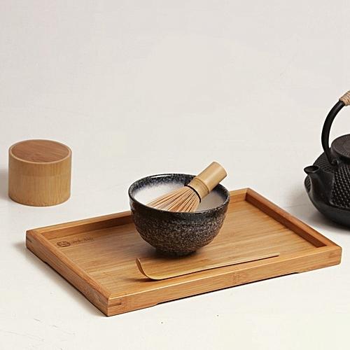 4 Style Matcha Set Bamboo Matcha Whisk+Chashaku Tea Scoop+Matcha Ceramic Bowl Mountains