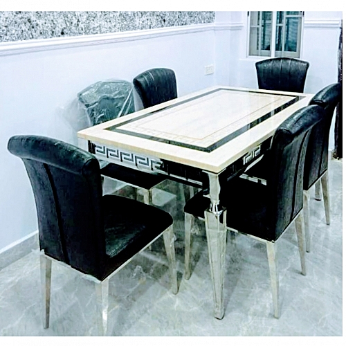 MORDERN MARBLE DINING TABLE AND CHAIRS ( Delivery Within Lagos ,FCT & Anambra)