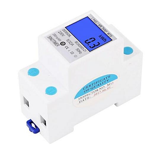 230V SINOTIMER DDS528L Single-phase Energy Rail Electronic Multi-function Meter