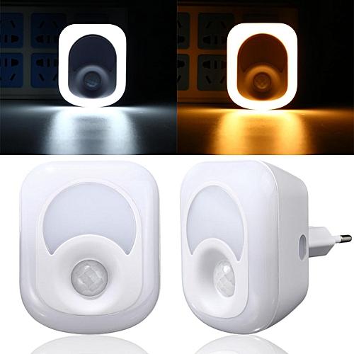 10PCS 2in1 2W PIR Bewegungssensor Lampe Nachtlampe LED Nachtlicht Deckenlampe 6500K Pure White