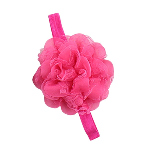 Braveayong Hair Accessories Baby Hair Soft Mesh Lace Chiffon Floral -F