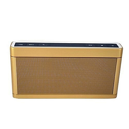 Multi-Function 168 Bluetooth Speaker - Gold