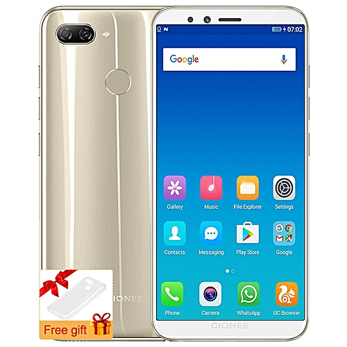 F6 5.7-inch (3GB, 32GB ROM) Android 7.1 Nougat, (13MP + 2MP) + 8MP, Dual Sim 4G LTE Smartphone - Gold