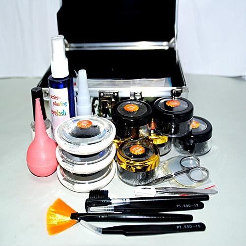 Professional False Eyelashes Extension Kit Eye Lash Full Tools Kit Set With  Case
