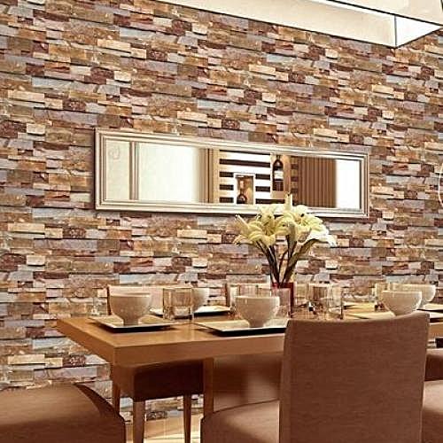Generic 3d Effect Brick Wallpaper - Brown