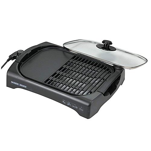 Health Grill Waffle Maker Open Flat- Black, LGM70-B5