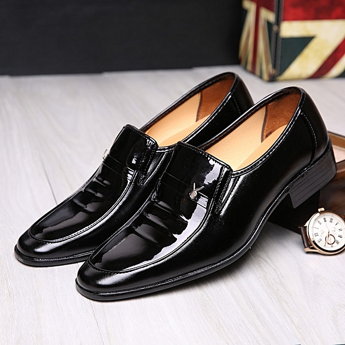 2d370a78824707 Fashion New Stylish Black Formal Leather Shoes For Hairdresser ...