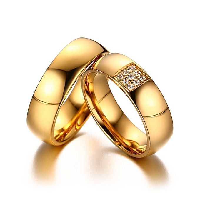 Wedding Rings Sets.His And Hers Wedding Rings Sets Shiny Cz Stone Silver Color Engagement Rings For Women Men Gold