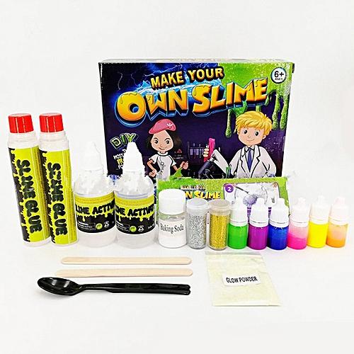 DIY Slime Kit Crystal Borax Slime Non-toxic Handmade Craft Supplies For Kids Multicolor
