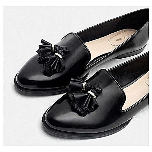 Fashion Quality Flat Loafers Shoe - Black
