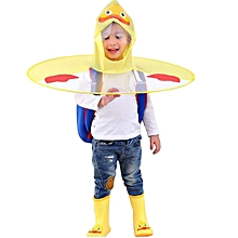 e0772e49d9118 Baby Cute Rain Coat UFO Umbrella Hat Folded Hooded Hand Free