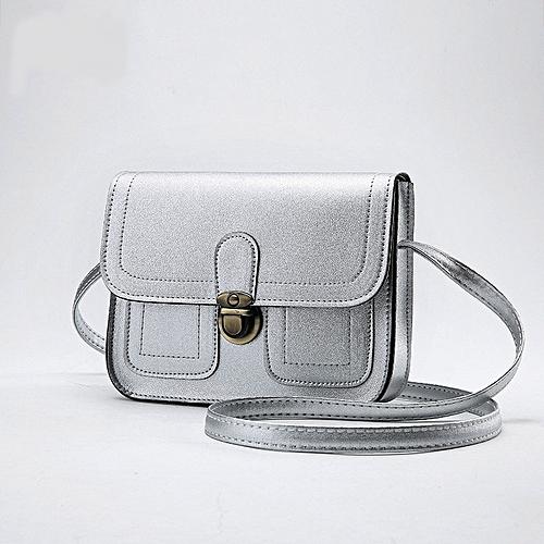 5b15026aafc Small Square Ladies Fashion Handbags Retro Bag Shoulder Bag - Silver