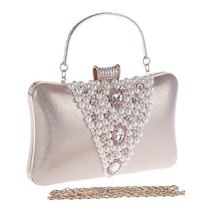 feb8ea5ce5 ... Popular Shorts & Leggings Hot Sale Cocktail Party Women Elegant Silver Pearl  Evening Party Bag Clutch ...