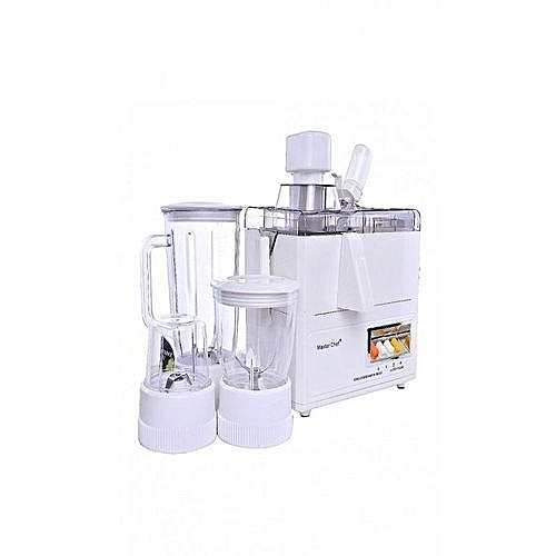 Juicer+ Blender + Grinder + Mill 4-In-1 - White