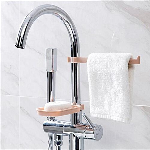 Fashion 2Pcs/Set Sponge Holder Kitchen Organizer Plastic PP Tap Sink Storage Holder Rack Kitchen Accessories Organizer Shelf - Blue