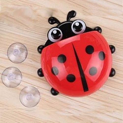 Lady Bug Toothbrush And Toothpaste Holder- Red