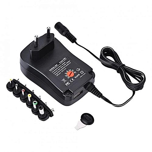 Universal AC / DC Power Adapter Supply 5V 2.1A USB Port 6 Tips 30W 3V/4.5V/5V/6V/7.5V/9V/12V EU
