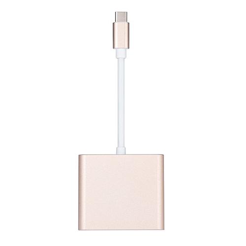 Type C To 2K HDMI USB 3.0 Charging HUB Adapter USB-C 3.1 Converter For Macbook Golden