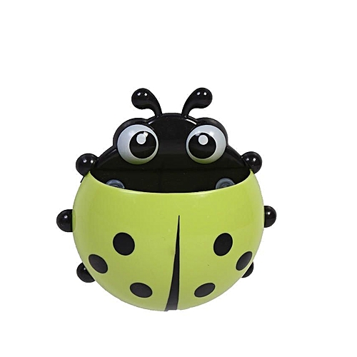 Lady Bug Toothbrush & Toothpaste Holder-(Green