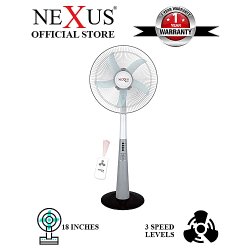 18″ Rechargeable Fan With Remote