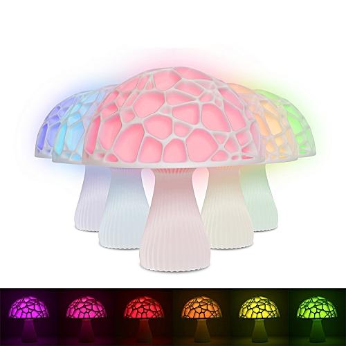 3D 20cm Mushroom Night Light Remote Control For Home Decoration