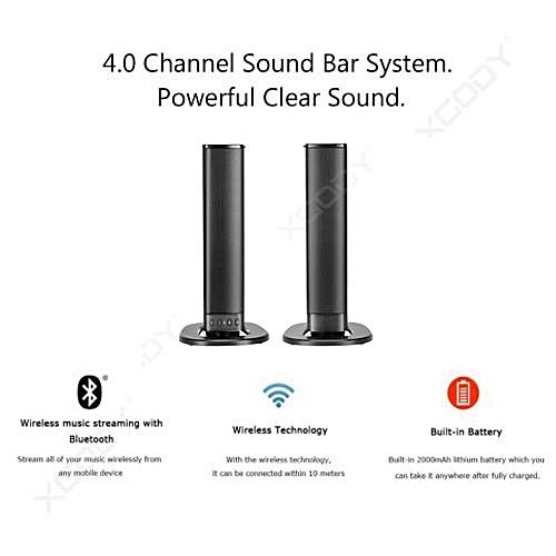 Detachable Stereo Dual Speaker Strong Bass Wireless TV Soundbar Bluetooth Sound Bar