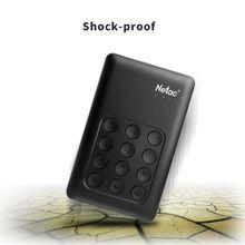 """Netac K390 1TB USB 3.0 2.5\ Portable HDD AES 256-bit Hardware Encryption Mobile External Hard Disk Drive Independent Keypad Lock For Desktop Laptop"""""""
