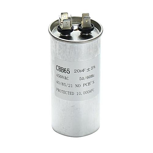 20uF CBB65 450V AC 50/60HZ Air Motor Conditioner Compressor Start Capacitor