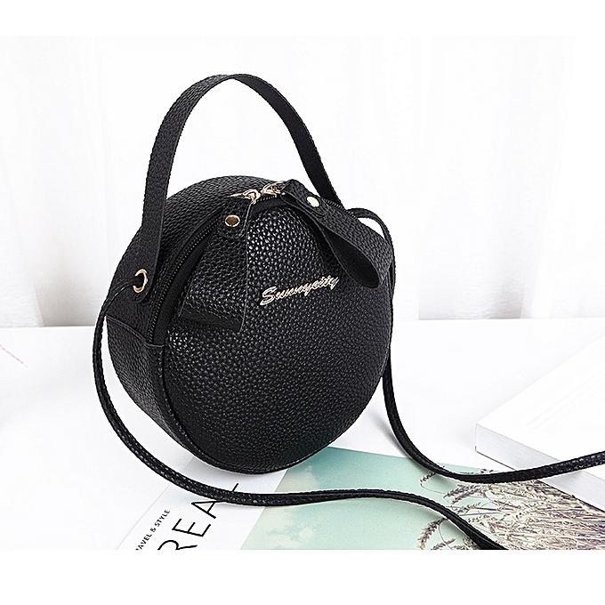 5c80417e4b85 Women's Round Sling Bag - Black