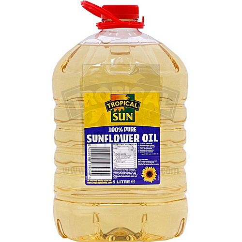 100% Pure Sunflower Oil 5litres