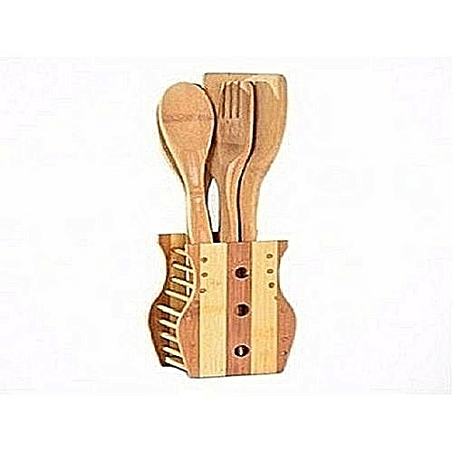 Wooden Cooking Spoons Set