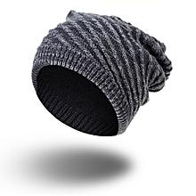 1366b54524a Men Women Unisex Warm Winter Knit Baggy Beanie Hat Ski Slouchy Cap Gray