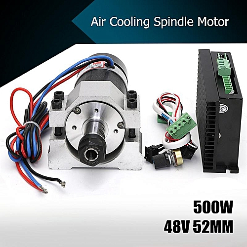 48V CNC 500W Air Cooling Spindle Motor Brushless+52mm Clamp +Speed Governor ER16