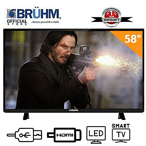 58-Inch Smart 4K UHD LED TV With E-share + Wall Bracket + 12 Months Warranty
