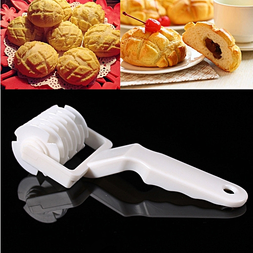 Lightning Plastic Baking Tools Wheel Hob Biscuits Pizza Pie Cake Tool Mold Pull Net-White