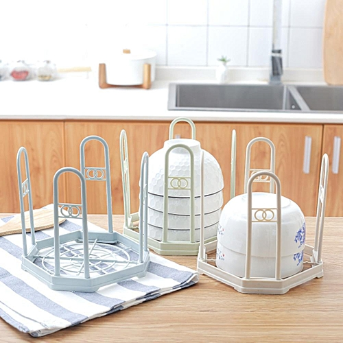 Plastic Bowl Draining Drying Rack Storage Holder Practical Home Kitchen Accessories Gadgets