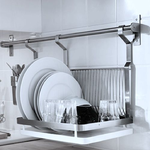 Ikea 21st Century Dish Drainer Rack & Cutlery Caddy - 59 Cm Inside ...