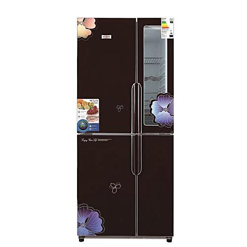 420 Ltr Multi Door Side By Side Fridge - Black Mirror Finish