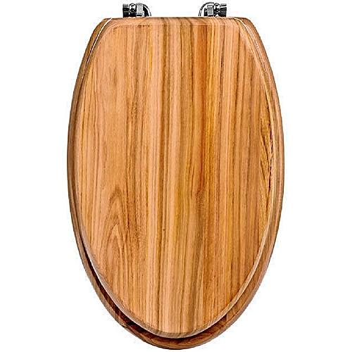 Teak Wooden Toilet Seat - Brown