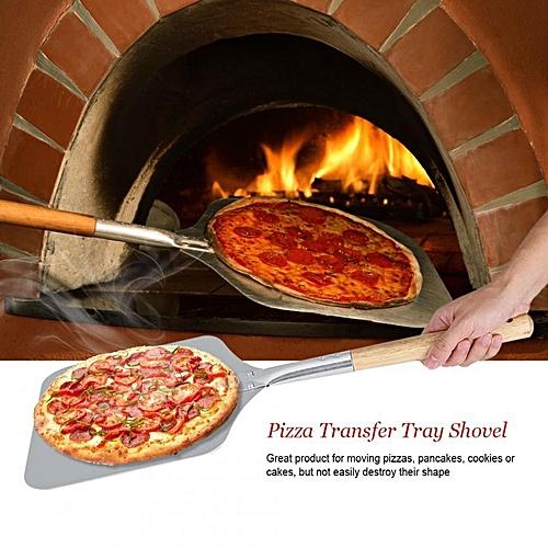 Aluminium Pizza Transfer Tray Shovel With Wood Handle Kitchen Restaurant Baking Tool