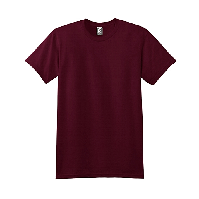 683715b395a F2D Men s Plain Maroon Red T-shirt