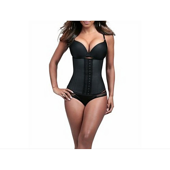 322eb328489 Waist Trainer For Ladies + Body Shaper + High Compression Waist Cincher +  Training Exercise Sports ...